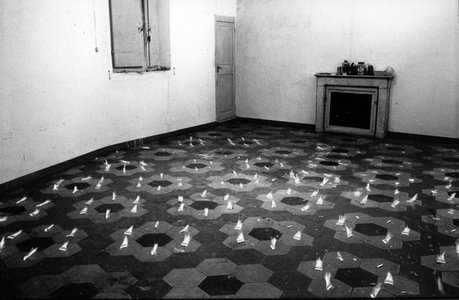 Untitled 1969 solid fuel tablets on floor 459 xxx q85
